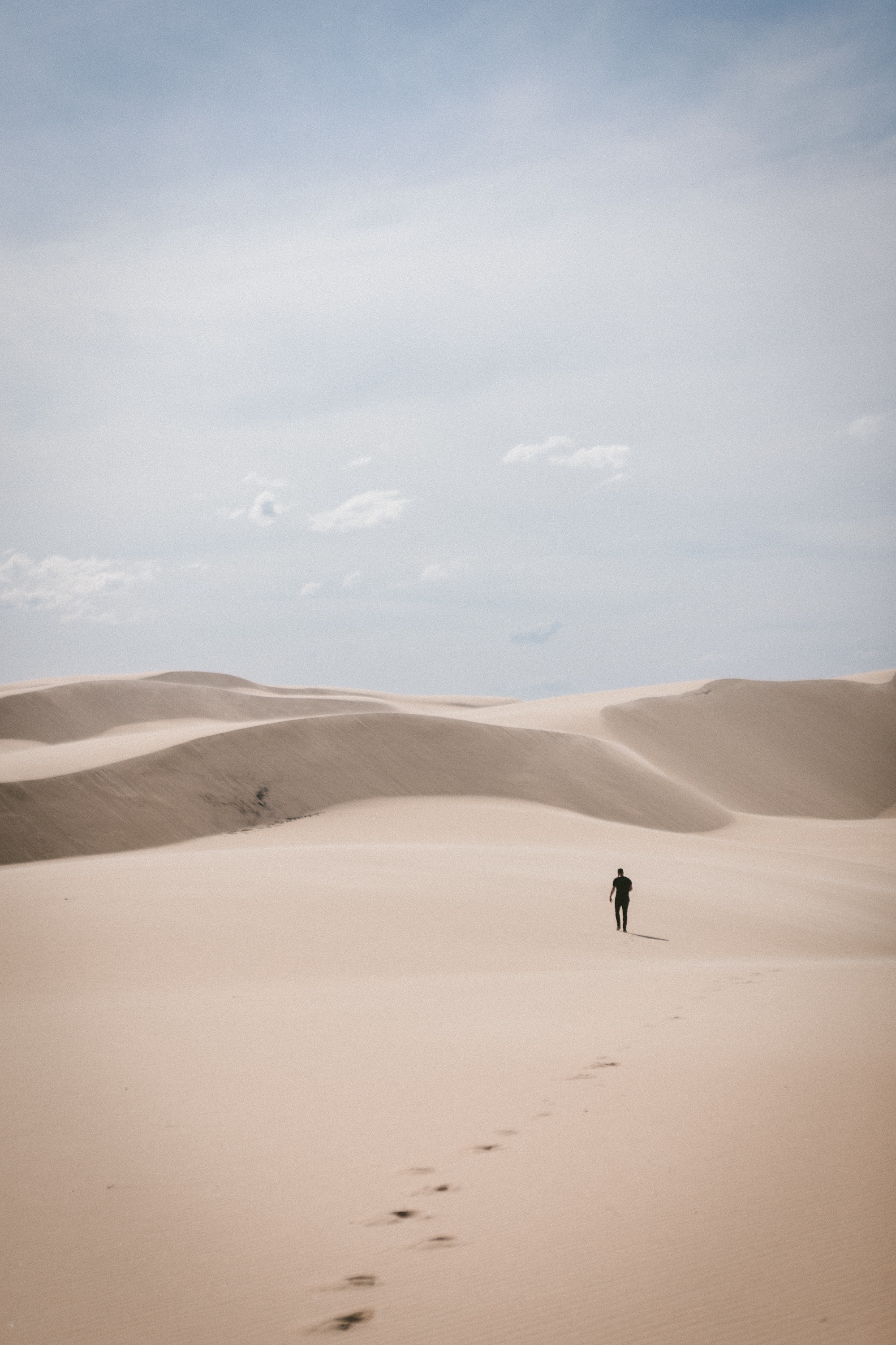 billy pasco lonely man in desert