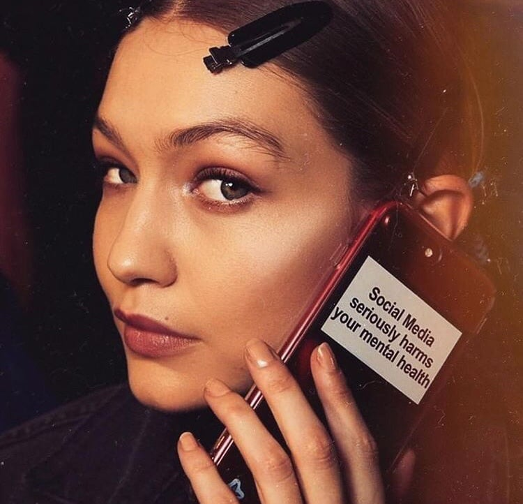 Gigi Hadid Social Media Phone Cover
